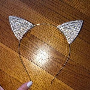 Bedazzled Cat Ear Headband